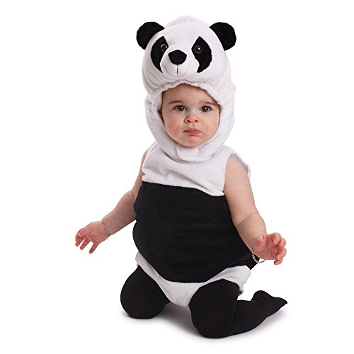 Dress Up America Kuscheliges Säugling Panda Bär Kostüm Infant Outfit ()