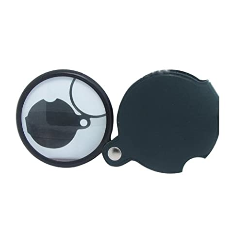 Generic 5X Mini Pocket Folding Foldable Magnifier Magnifying Glass Lens Padded Pouch