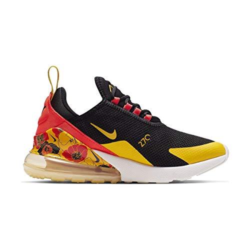 Nike Damen W Air Max 270 Se Leichtathletikschuhe, Mehrfarbig (Black/University Gold/Bright Crimson 5), 41 EU Crimson University