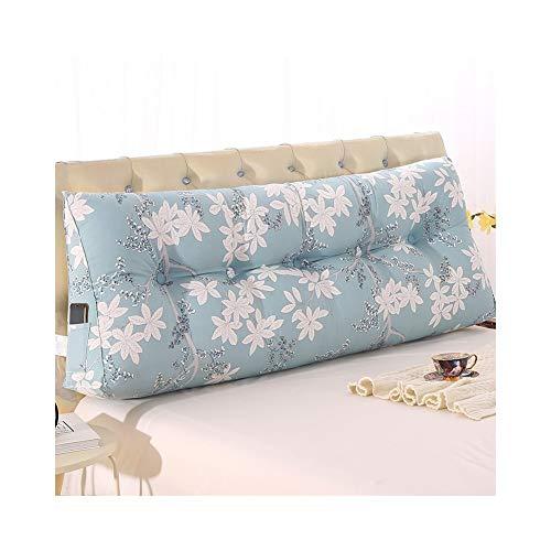 MH-Cushions Kissen, Bedside Dreieckskissen Kissen Doppelte Weiche Tasche Tatami Kissen Lendenkissen Bett Großes Kissen Sofa Zurück Taille (Color : C, Size : 60cm) -