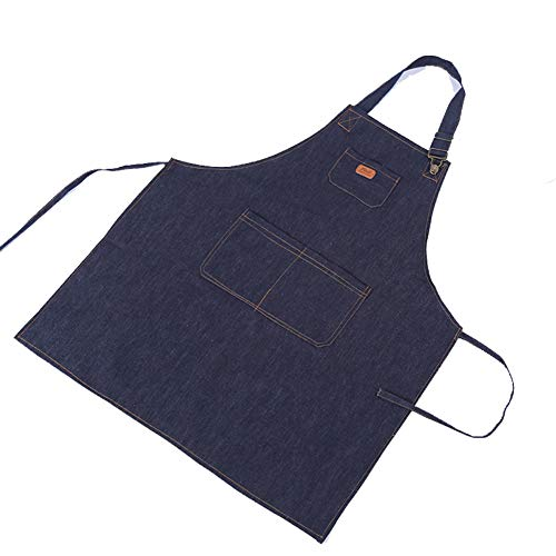 6459e24984e ValianhAgen - Delantal cocina vaquero trabajo cocinero