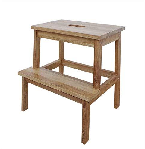 Eeayyygch arie sgabello quadrato multifunzionale/sgabello tavolo da pranzo in legno massello/sgabello a due gradini per uso domestico per uso domestico 38.5 * 34 * 46.5cm (colore : -, dimensione : -)