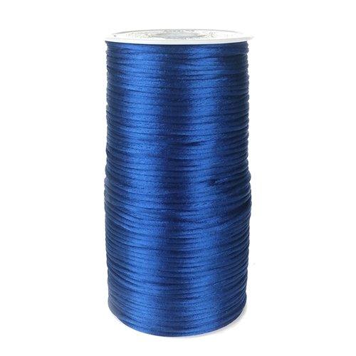 homeford fc0r000a5350200YD Satin Rattail Schnur Chinesischer Knoten, 2mm, Royal Blau Royal Polyester Satin