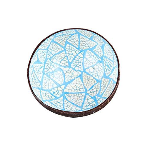 Smilikee Natural Coconut Shell Bowl Home Dekorative Schüssel Desktop Ablageschale Servierschale Candy Container Nuts Holder -