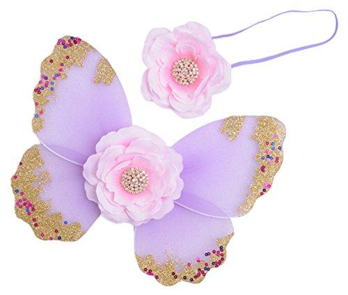 Kostüm Schmetterlingsflügel Baby - DATO Baby Fotografie Kleidung 1 Satz Schmetterlingsflügel + Stirnband