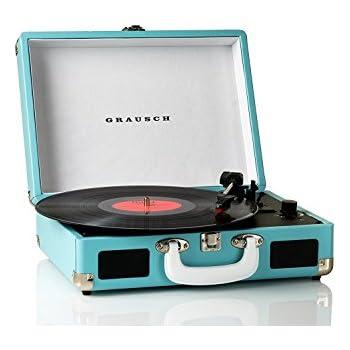 Grausch rps101 platine vinyle tourne disques valise - Tourne disque avec haut parleur integre ...
