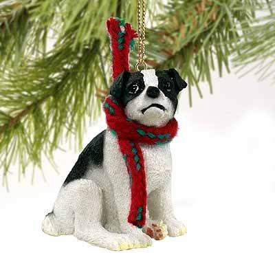 Conversation Concepts Jack Russell Terrier Miniatur Hund Ornament–schwarz & weiß (Miniatur Jack-russell-terrier)