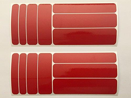 Aufkleber Set14 aus Reflexfolie 3M Scotchlite rot