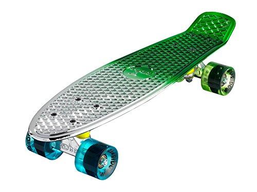 Ridge Skateboards 27 inch Cruiser Board Metallic Fades/59mm Wheels (Penny Nickel Skateboard 22 Zoll)