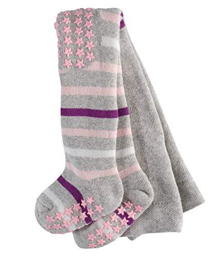 FALKE Unisex Baby Multi Stripe Baumwolle Gestreift Strumpfhose, Blickdicht, Mehrfarbig (Storm Grey 3820), 19 (Herstellergröße: 80-92) (Multi-stripe-strumpfhose)