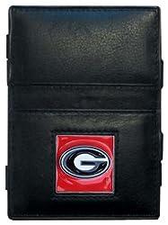 NCAA Georgia Bulldogs Leather Jacob's Ladder Wallet