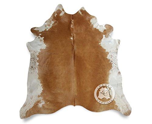 Teppich Kuhfell beige und weiß 180 x 210 cm - Premium Qualität von PIELES DEL SOL