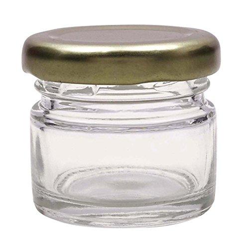 Pack De Conteneurs Cosmétiques 20 Ml Clair Vide Bocal En Verre Baume Pour Les Lèvres Jar Gros Rechargeable Parfum Solide De 8