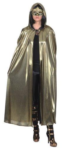 Umhang Venedig mit Kapuze in gold Unisex Kostüm zu Karneval Fasching (Karneval In Venedig Kostüme)