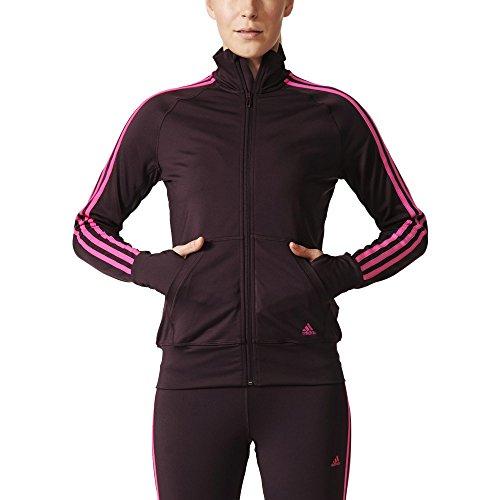 Adidas Basics Tuta da Ginnastica, Rosso / Rosa, S