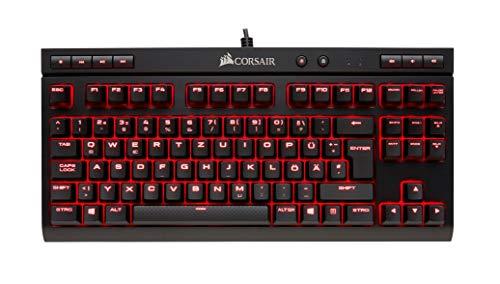 Corsair K63 Mechanische Gaming Tastatur (Cherry MX Red, Rot LED Beleuchtung, Kompakt, QWERTZ) schwarz