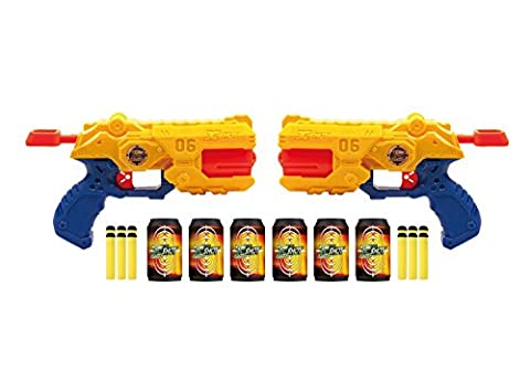 X-Shot – Rapid Fury – Double Pack – 2 Pistolets + 3 Cibles + 12 Fléchettes en Mousse