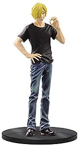Banpresto - Figura de One Piece, Sanji, en Vaqueros y Camiseta Negra
