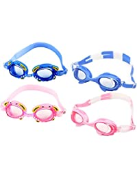 Somedays Gafas de natación para niños 4-14 a Prueba de Agua y antivaho sin Fugas