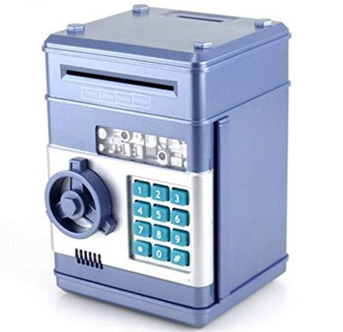 Spardose mit Passwort,Elektronisch Sparschwein für Kinder, Number Bank Piggy Bank, Mini-ATM-Münze Banken Geschenke Zum Weihnachten&Geburtstag,1 Stück (Blau) -