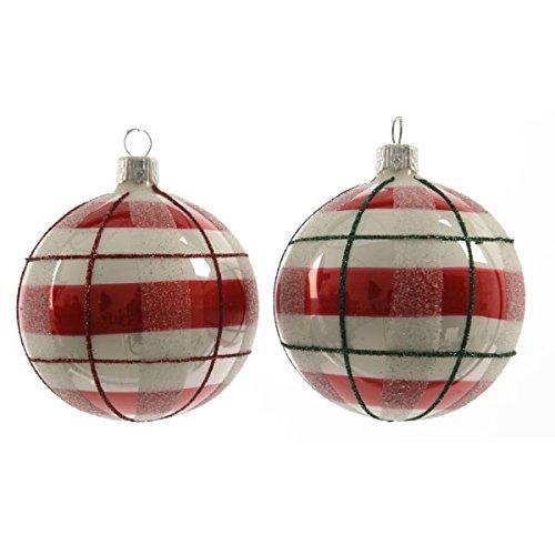 Selezione varzi confezione di 6 palline di natale (d80 mm) classico moderno rosso cartoleria varzi