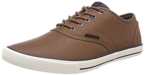 JACK & JONES Herren JFWSCORPION PU Cognac PRE18 Sneaker, Braun, 42 EU
