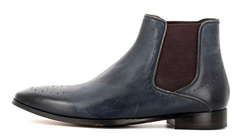 Gordon & Bros Herrenschuhe Alberto 623042 Klassischer rahmengenähter Stiefel und Chelsea Boot für Anzug, Business und Freizeit Navy/Bordo