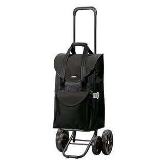 Quattro Senta shopping trolley black, volume 47L, 3Years Guarantee, Made in Germany by Andersen Shopper Manufaktur