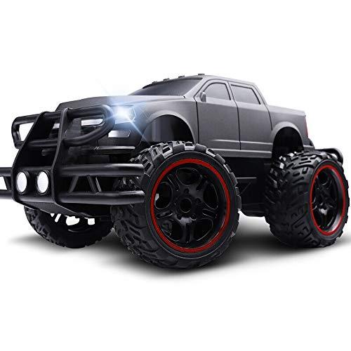 Kikioo Große RC Auto Fernbedienung 2,4 GHz Geländewagen Schnell Buggy Crawler Chariot Toy Racing Monster Truck Climber Mit Akku Für Kinder Erwachsene Schwarz