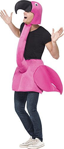 Imagen de smiffys  disfraz flamenco rosa para adulto talla única alternativa