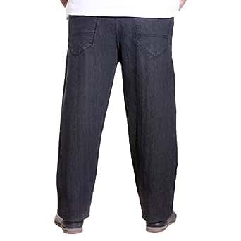 Xmex Men's Denim Straight Fit Jeans -Black, (50)