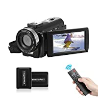 "‏‪Andoer HDV-201LM 1080P FHD Digital Video Camera Camcorder DV Recorder 24MP 16X Digital Zoom 3.0"" LCD Screen with 2pcs Rechargeable Batteries‬‏"