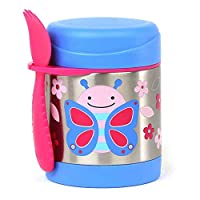 Skip Hop Baby Zoo Little Kid and Toddler Insulated Food Jar and Spork Set, Multi, Blossom Butterfly