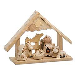 My Home, presepe in legno con personaggi