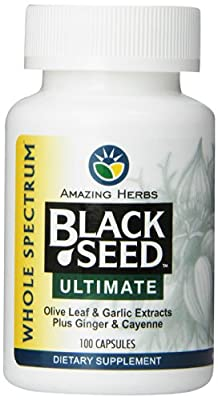 Amazing Herbs Black Seed Ultimate With Garlic, Ginger, Cayenne Capsules, 100 Count from AMAZING HERBS