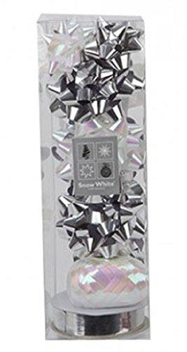 Silber & Weiß Schleifen und Bänder Set Weihnachten Weihnachtsgeschenk / Geschenk Dekoration
