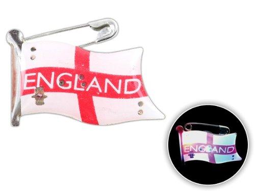 Spilletta LED con luce intermittente bandiera inghilterra england spilla pin badge calcio europei mondiali tifosi ultra (201) - Personalizzati Pin Badge