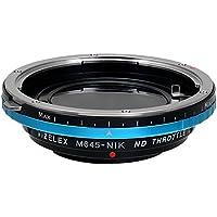 Fotodiox–Adattatore Pro Vizelex ND Mamiya 645(M645) lente per Nikon F–Vizelex ND Throttle Lens Mount Adapter from Fotodiox Pro–Mamiya 645(M645) Lens to Nikon F mount (FX, DX) Mount Cameras (Such as D7100, D800, D3)–WITH built-in filtro ND variabile (ND2ND1000)