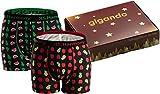 gigando | 2 Boxershorts mit bunten Motiven für Herren | Unterwäsche Boxer-Box | Apfel-Ananas, Birne-Melone | XL