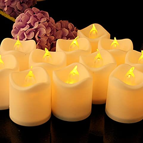 24 Packs LED Kerzen, flammenlose Teelichter Kerzen mit flackernde Flamme Elektrische Teelichter für Hochzeit, Party, Bar, Weihnachten