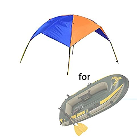Asenart ® Portable Foldable Canopy for Inflatable Boat(2 Person)and Camping Sun Shelter Fishing Tent Sun Shade Canopy Awning (No Boat Included)
