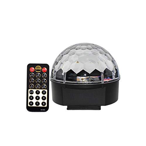 Stage Lights - Disco Ball Light mit Fernbedienung LED * 6 Crystal Magic Ball Lights 12 Modi Bühnenbeleuchtung KTV Bar Decor Lighting - Basis-projektor-lampe