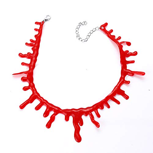 Kostüm Kreative Handgemachte - Xiton Handgemachte kreative Requisiten Vampir Blut Halskette Scary Halloween Kostüm Requisiten (rot 30cm / 11.8