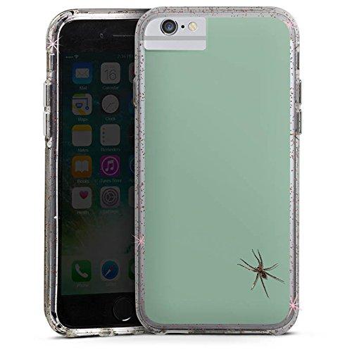 Apple iPhone 8 Bumper Hülle Bumper Case Glitzer Hülle Spinne Insekt Spider Bumper Case Glitzer rose gold