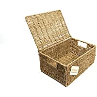 woodluv Seagrass Storage Basket with Large Lid