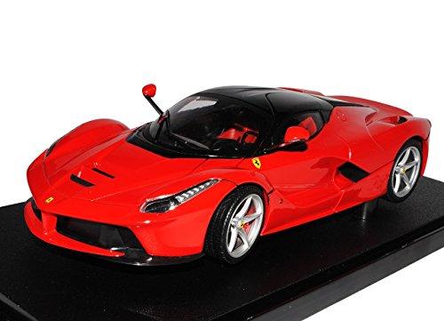 Ferrari-LaFerrari-Coupe-Rot-Schwarz-Ab-2013-118-Mattel-Hot-Wheels-Modell-Auto-mit-oder-ohne-individiuellem-Wunschkennzeichen