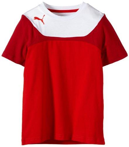 PUMA, Maglietta Bambino Leisure Tee, Rosso (Puma Red-white), 164 cm