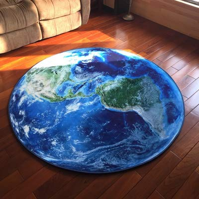 lire la suite de jeux vidéoEarth Blue Sección delgada alfombra redonda sala de estar dormitorio de la compilation de vidéos, 2000MM × 2000MM, Earthplaymat bebé
