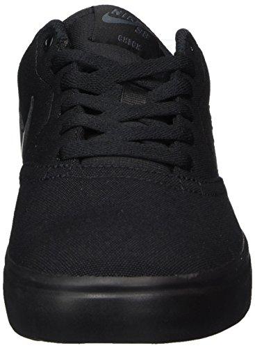 Nike Sb Check Solar Cnvs, Scarpe da Skateboard Uomo Nero (Black (nero / antracite))
