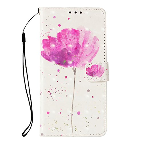 LG K30 Fall, LG K10 2018 Fall, jancalm [Handschlaufe] [Standfunktion] [3D Painted] [-Karte/Cash Slots] Muster PU Leder Wallet Magnetic Flip Folio Cover + Crystal Pen, A Flower Pattern T-mobile Wireless-handy